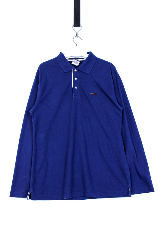 TOMMY HILFIGER L/S Polo Blue XL